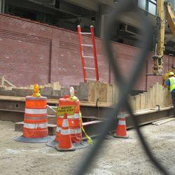 3:39 p.m. Excavation work on Waveland -