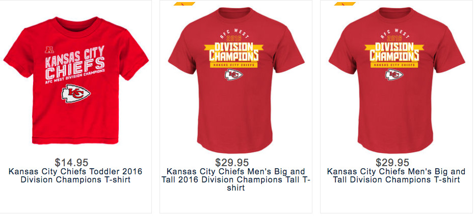 new concept a8fe3 006f4 Get your Kansas City Chiefs playoff gear: AFC West champion ...