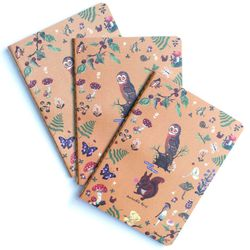 """To prevent the endless notetaker from running out of paper: Woodland Journal by Nathalie Lete at <b>Patch NYC</b>, <a href=""""http://www.patchnyc.com/products/woodland-journal-ed11216"""">$9</a>"""
