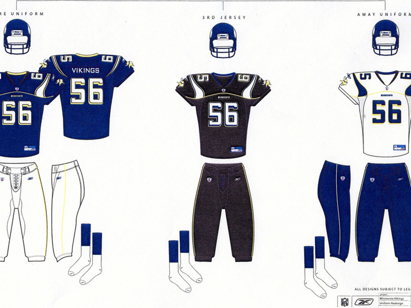 new arrival 547cc 06f7a Vikings 2003 Prototype Uniforms Leaked - Daily Norseman