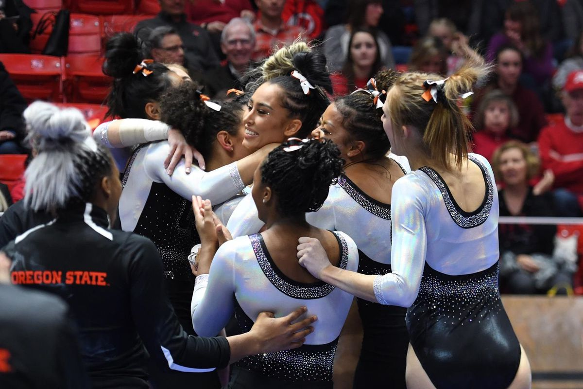 Oregon State Gymnastics Hosts First Home Meet on Saturday - Building The Dam
