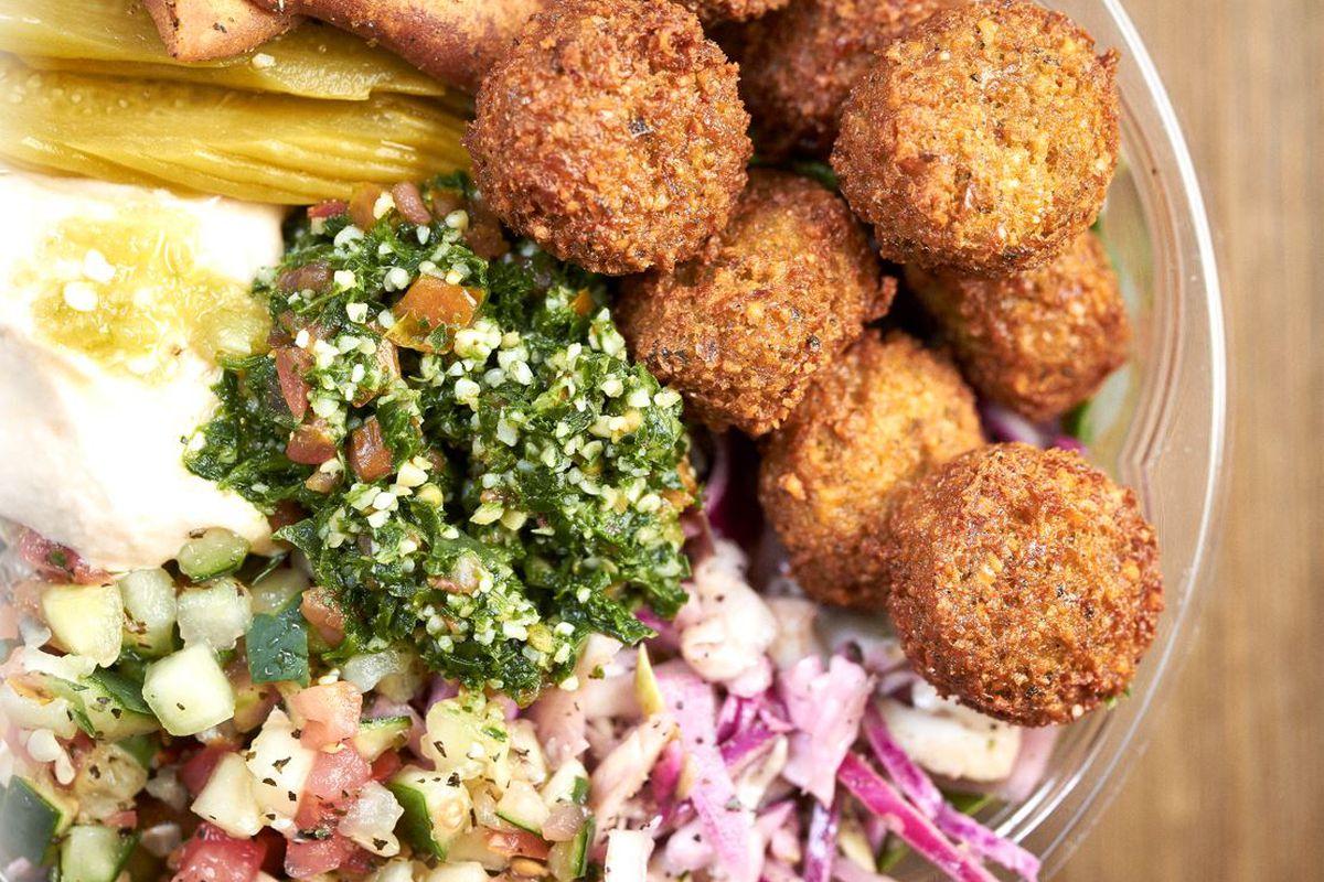 Falafel bowl at Falafel Inc.