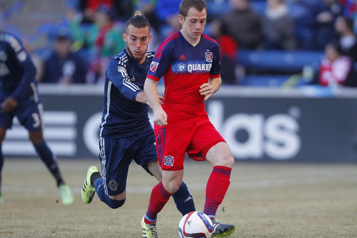Harry Shipp's implacable calm on the ball helped the Fire to keep possession Saturday night.