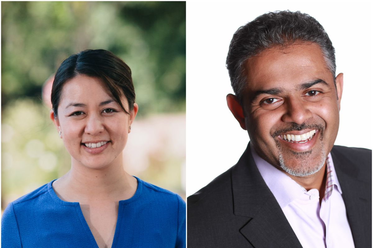Jessica Haroon, VP of business dev and ops, and Sanket Akerkar, SVP of global fleets and insurance.