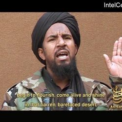 FILE - This image from March 25, 2007, video posted on a Web site frequented by Islamist militants and provided via the IntelCenter, shows al-Qaida militant Abu Yahia al-Libi, who escaped from a U.S. prison at Bagram Air Base, north of Kabul, Afghanistan, in 2005. Al-Libi, a Lybian militant as his name implies, is now al-Qaida's de facto No. 2He's a key propagandist, whose video appearances outnumber those of leader Zawahiri.