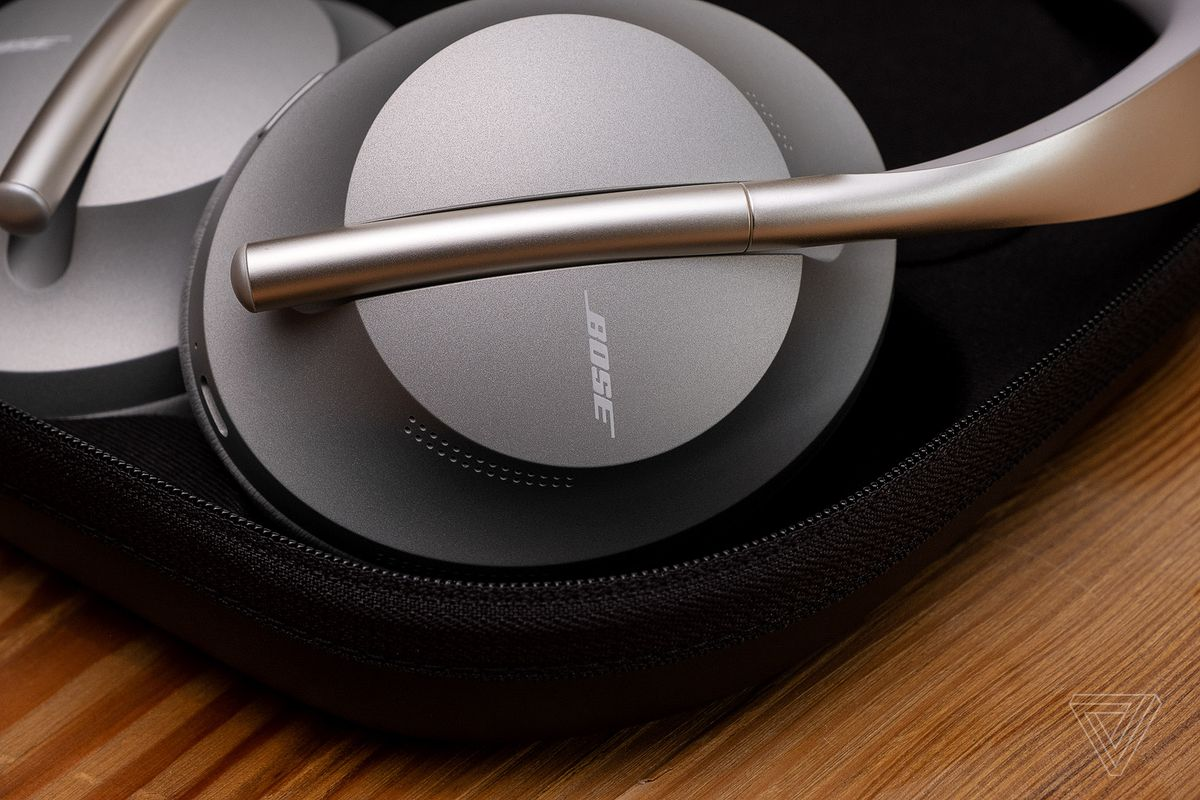 A close-up photo of the Bose Noise Canceling Headphones 700, the best noise-canceling headphones for video conferencing and voice calls.