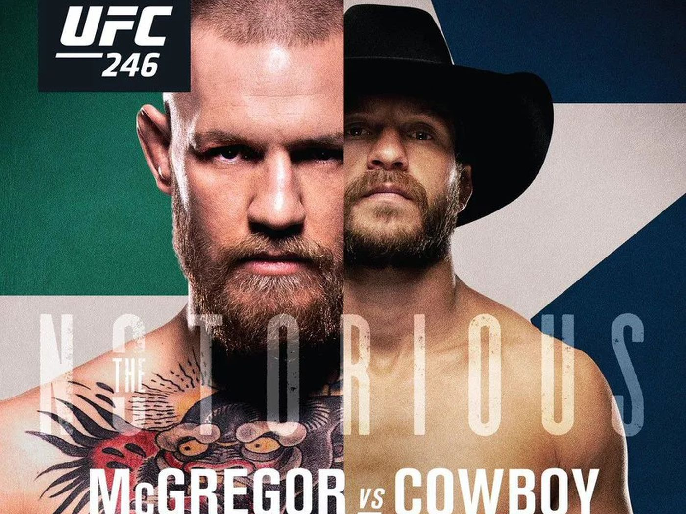 Pic Official Ufc 246 Poster Drops For Mcgregor Vs Cowboy