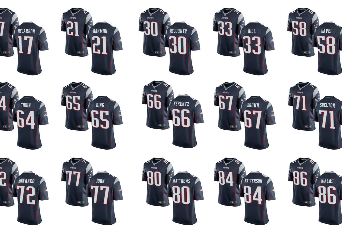 buy online b6e9a ef104 Patriots' offseason additions receive jersey numbers; take a ...