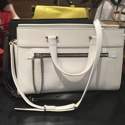 White leather bag, $365 (was $803)