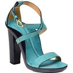 The Chiara ($995): This Vaccheta-leather masterpiece of a four-and-a-half-inch stacked heel comes in turquoise and black styles. With a genuine Opanka leather outsole with vegetable-tanned leather that's hand-molded over a wooden base, the shoe is both st