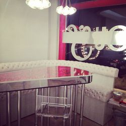 This is our reception area. Guess how many lipsticks are in that lipstick table? Nope. More. Ok, I'll tell you. 2000.