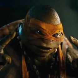 """Noel Fisher as Michelangelo, one of the  """"Teenage Mutant Ninja Turtles"""" in a new reboot that became an unusual hit for August."""