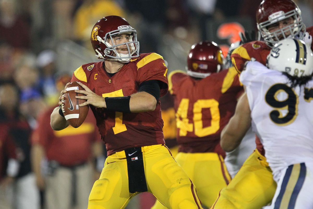USC's Matt Barkley is one of three returning quarterbacks to post a passing efficiency mark of at least 160 last season.