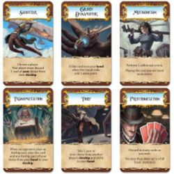 A look at some of the cards in the game Dastardly Dirigibles.