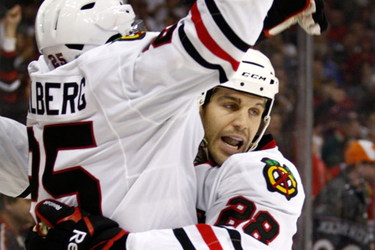 It took Jake Dowell three minutes to catch up to Stalberg to celebrate.