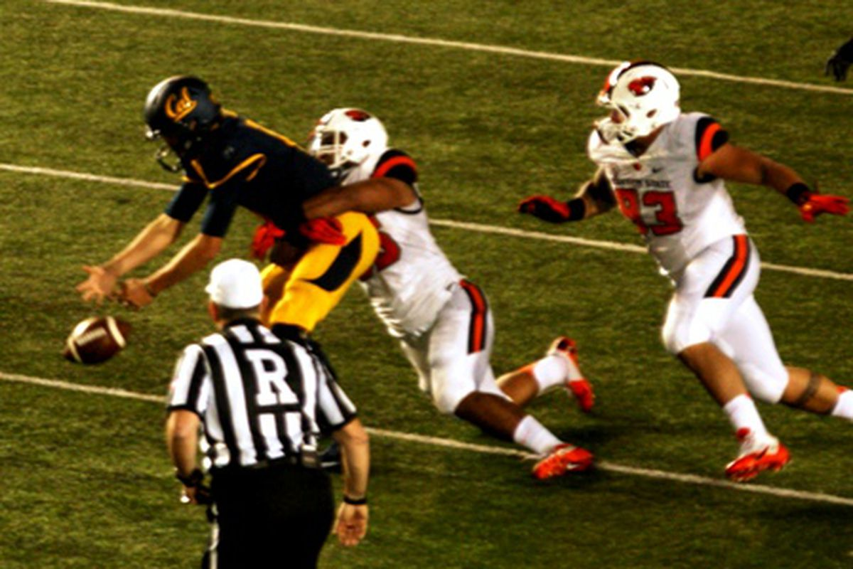 Football games have slipped away from the Bears a lot lately, including against Oregon St. the last couple of year.