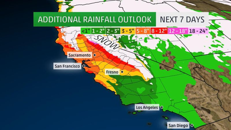 The Rainfall Outlook For The Next 7 Days Courtesy Of The Weather Channel