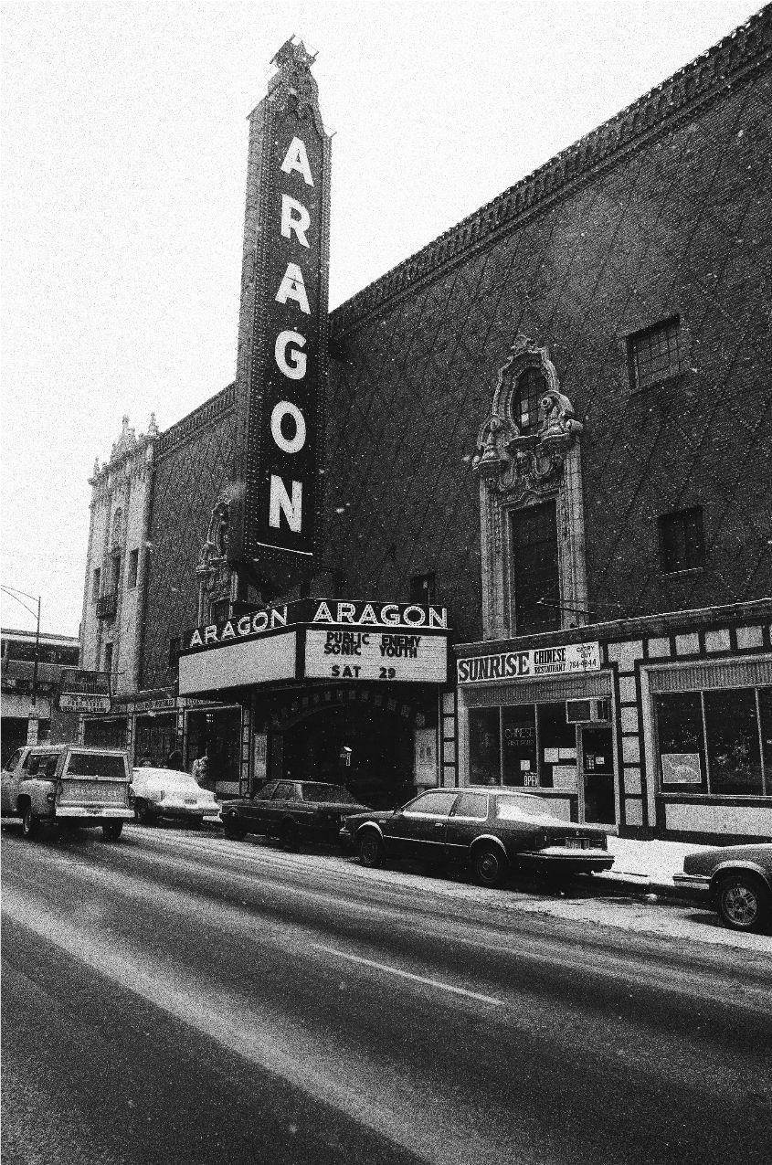 The Aragon Ballroom in 1990 after a Public Enemy concert.