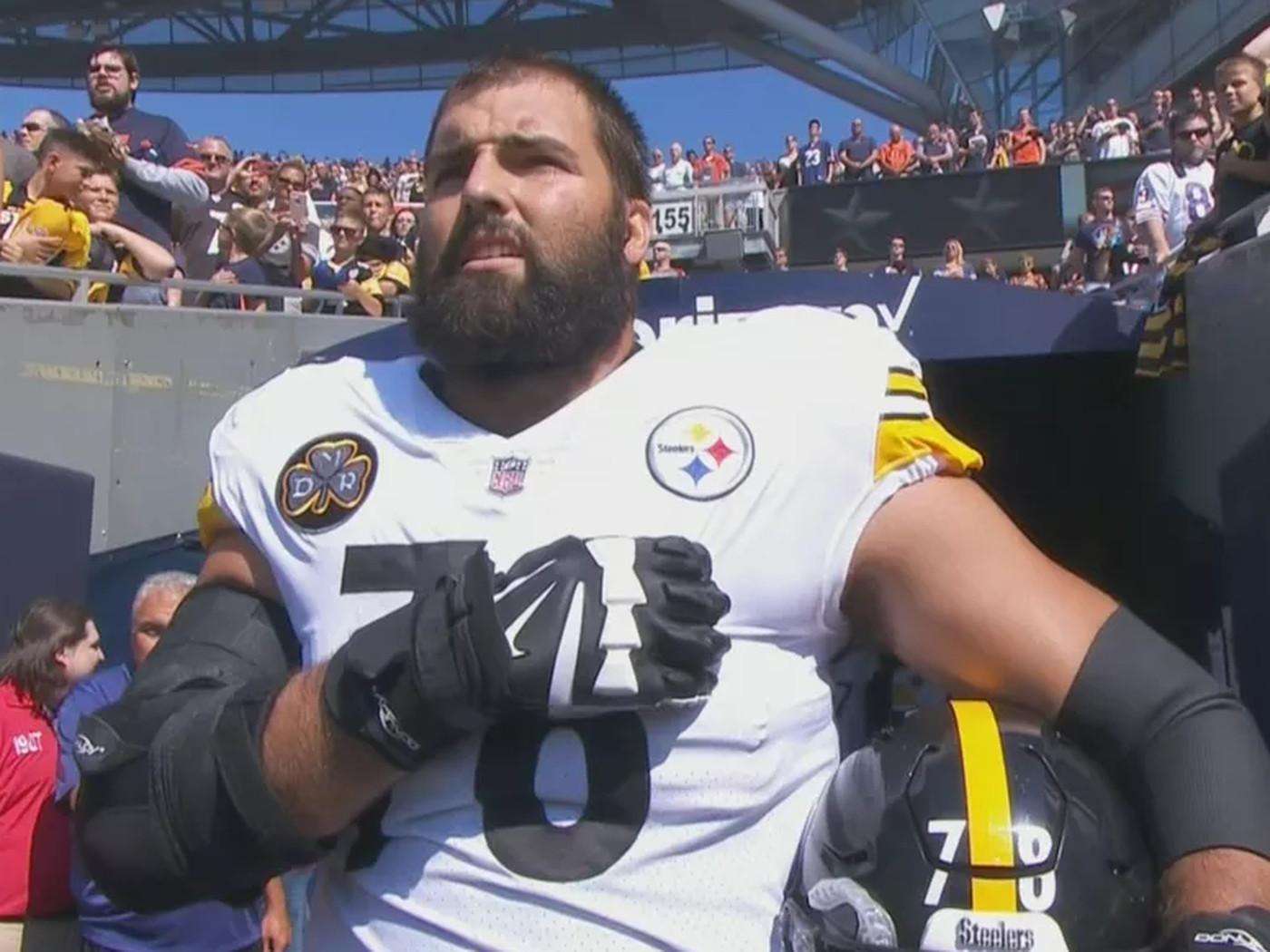 38ba80ce9de Steelers  Alejandro Villanueva  embarrassed  by national anthem photo -  SBNation.com