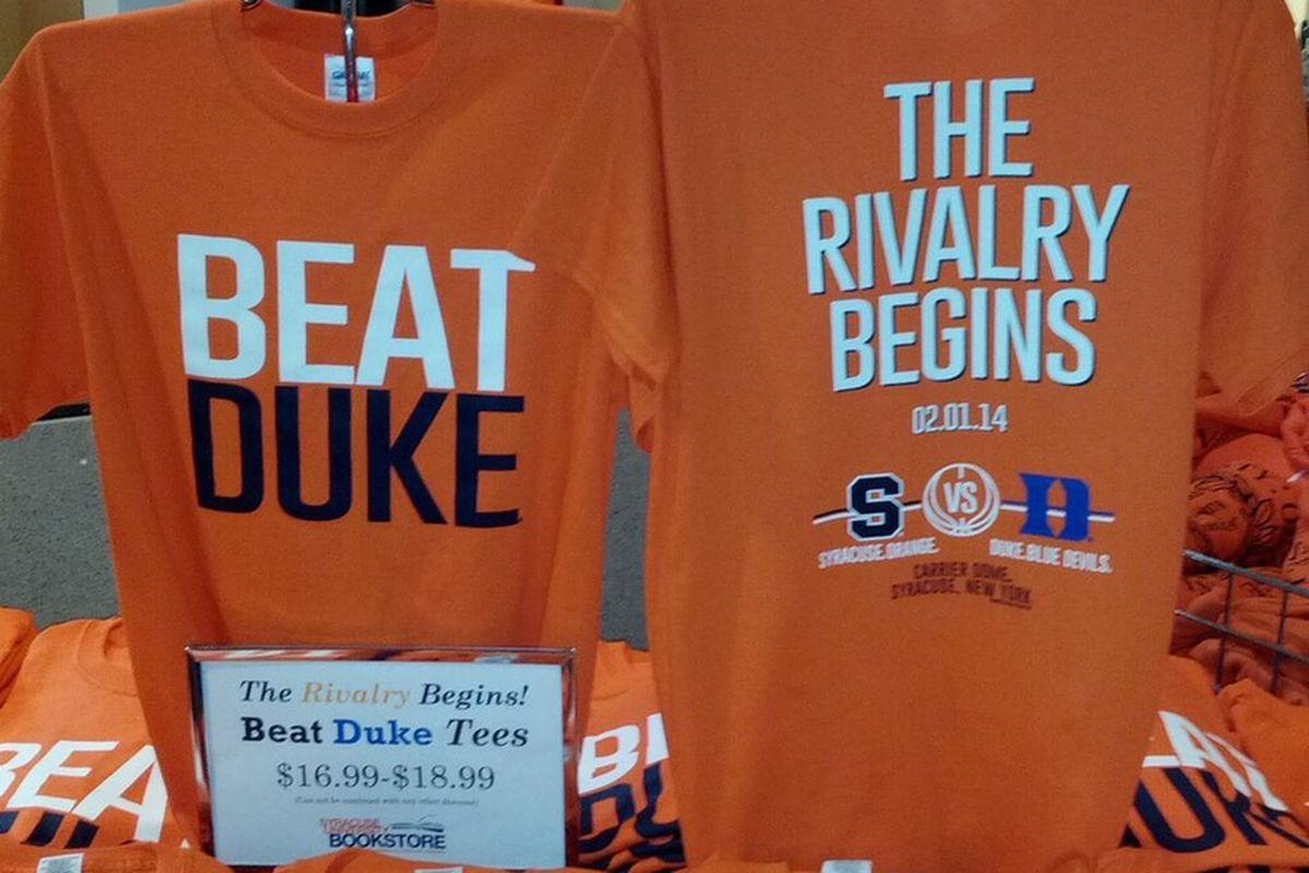 Syracuse Vs. Duke: Already In T-Shirt Form