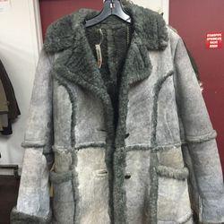 Shearling coat, $120