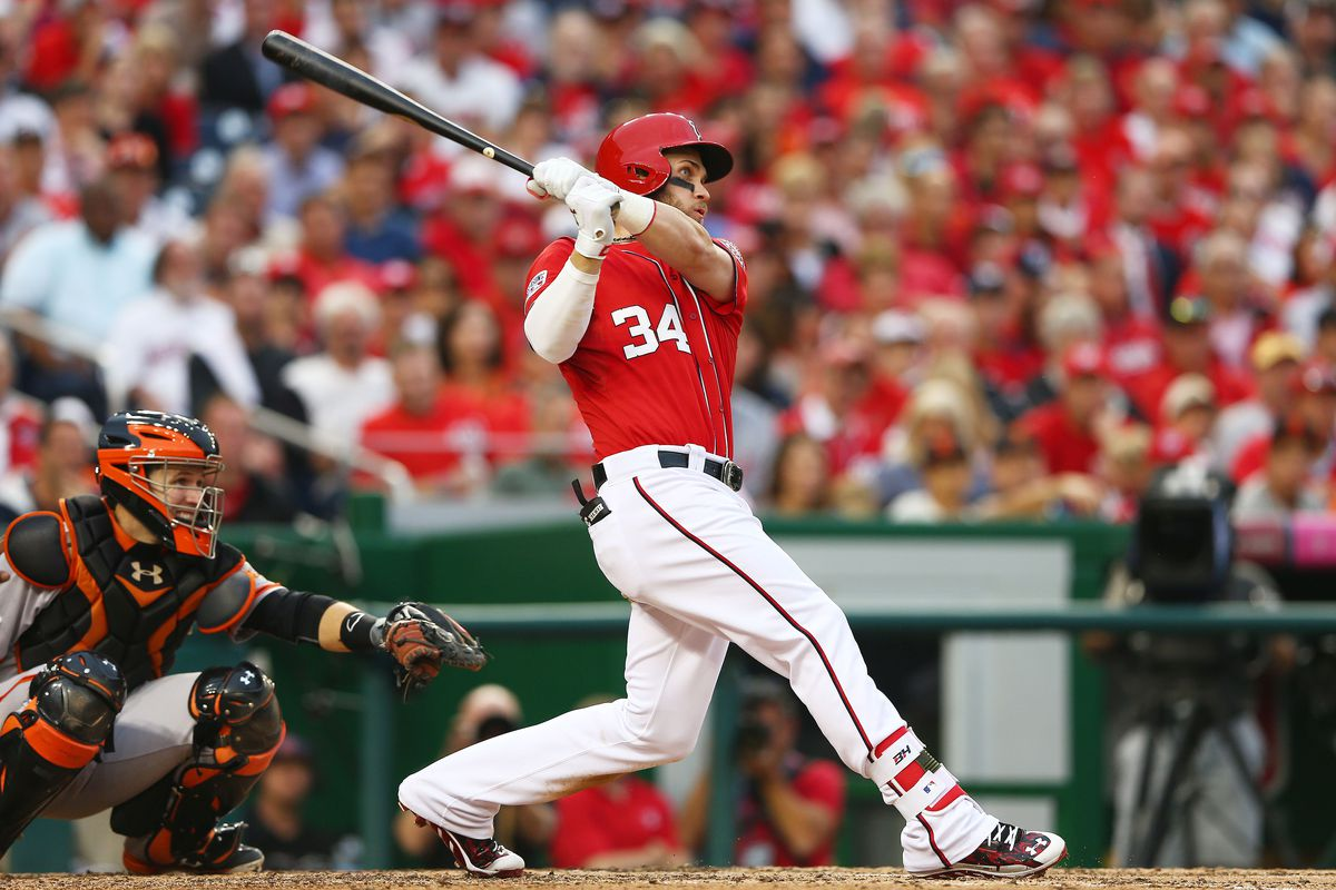 Bryce Harper homered in game one but the nasty Nats still came up short.