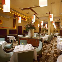The dining room at Restaurant Charlie.