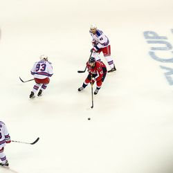 Burakovsky With Rangers on All Sides