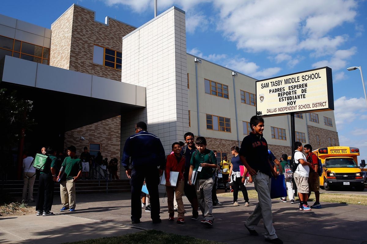 Sam Tasby Middle School in Dallas, where a student had contact with the Ebola patient.