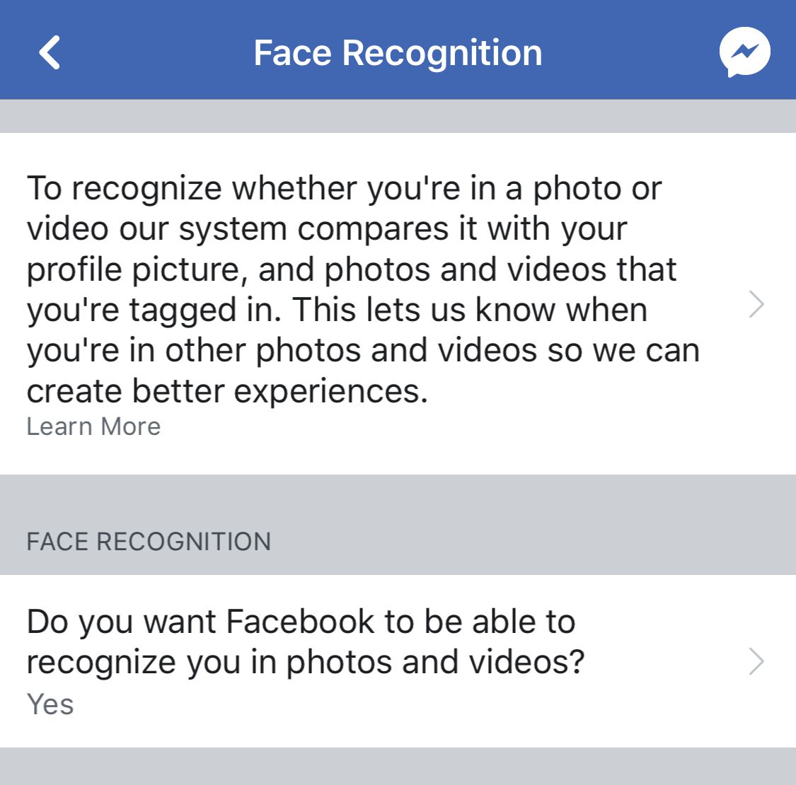 How to stop Facebook from looking for you with face