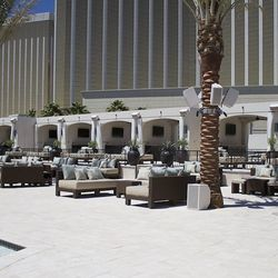 A view of the cabanas at Daylight Beach Club.