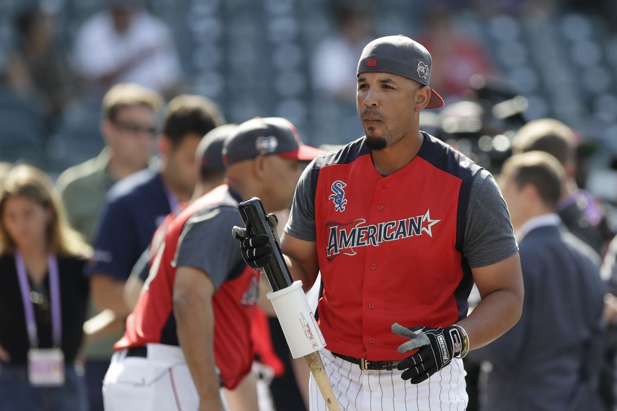 Jose Abreu waits to take batting practice before the 2019 All-Star Game in Cleveland.
