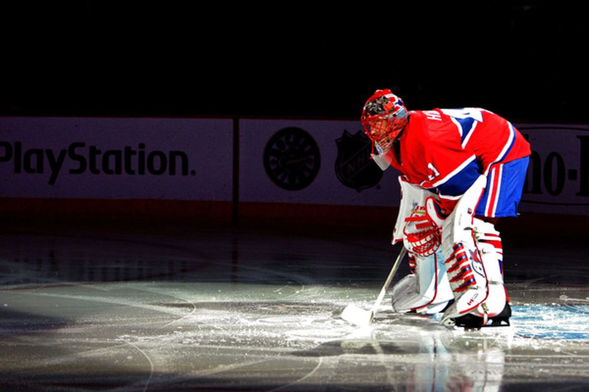 The spotlight is on Jaroslav Halak as he assumes the starting goaltender job for the St. Louis Blues for possibly a long, long time. No pressure, sir. (Photo by Dave Sandford/Getty Images)