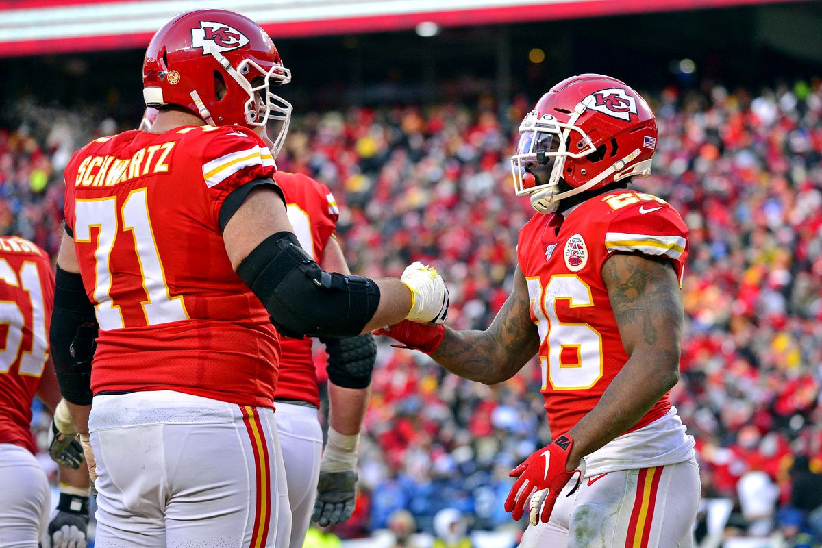 Showing how the Chiefs OL has been successful in playoff run blocking