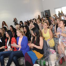 The crowd for the Fashion Panel was eventually standing-room only