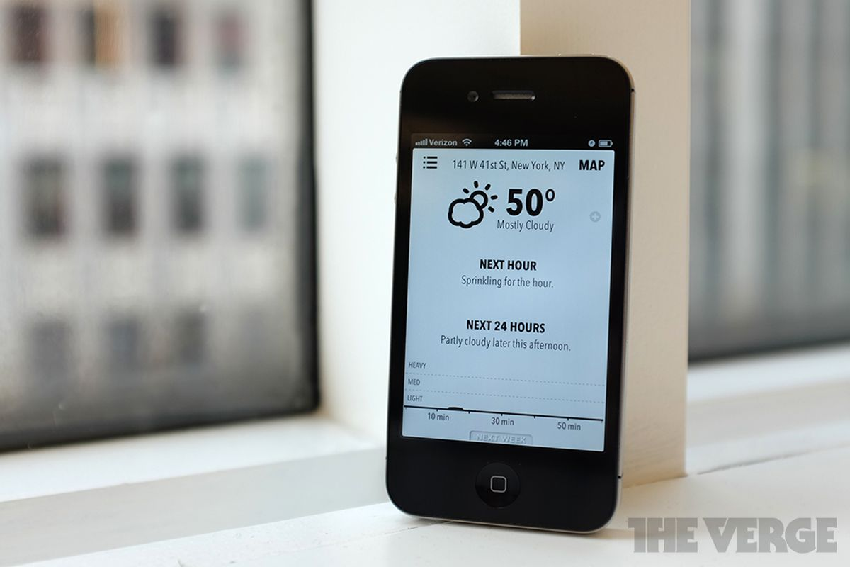 forecast.io on iPhone