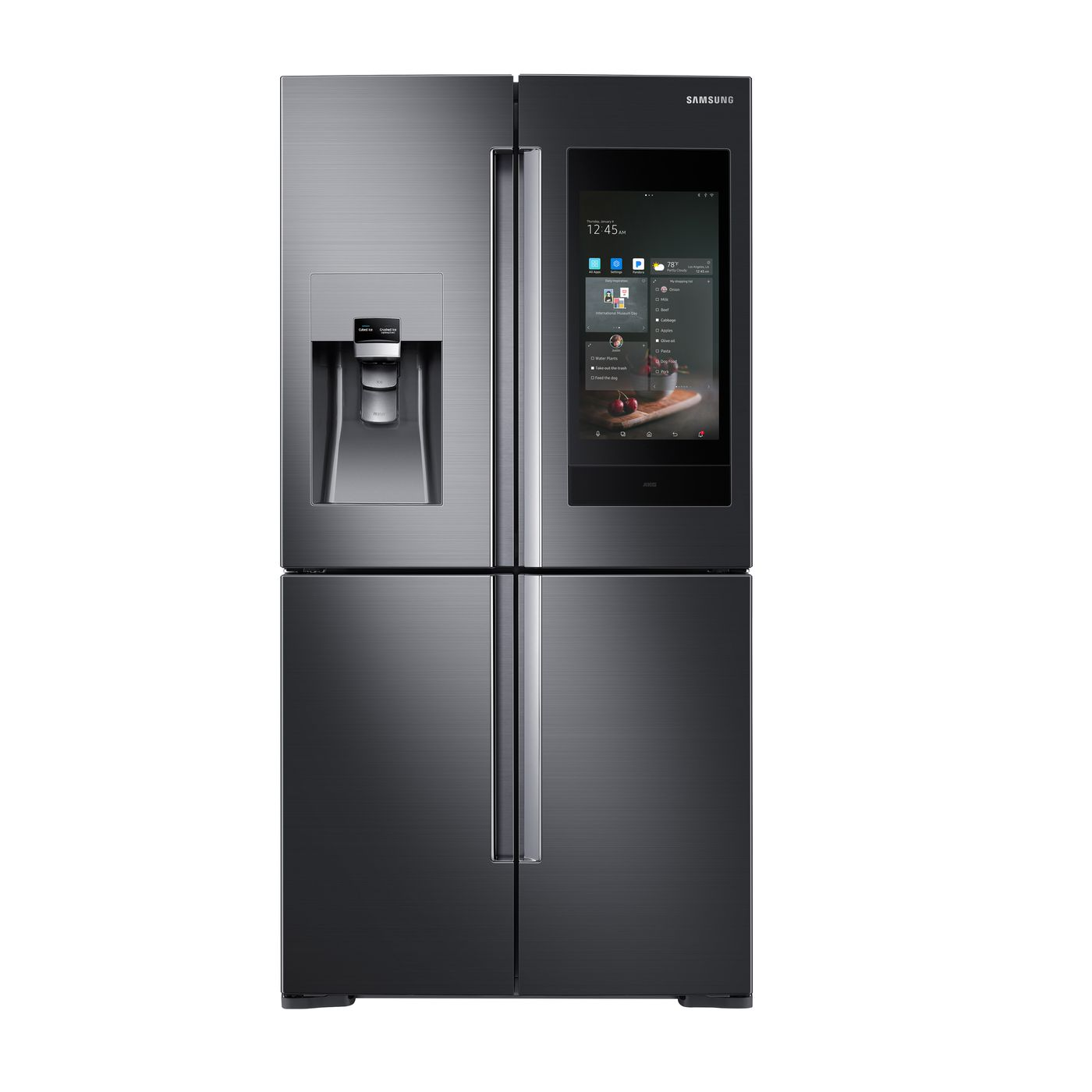 Samsung Family Hub Review >> Samsung S New Smart Refrigerator Has Bixby Akg Speakers And Can