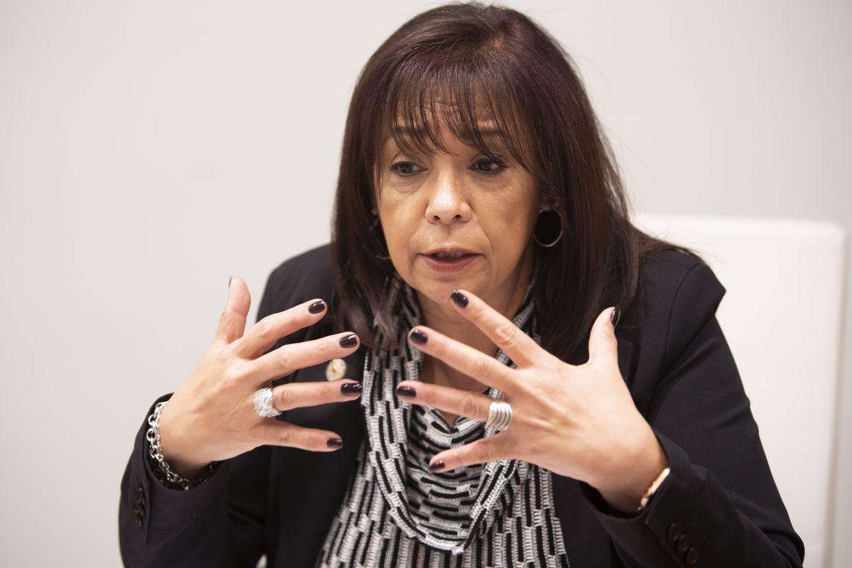State Sen. Iris Martinez, Democrat running for Cook County Circuit Court Clerk.