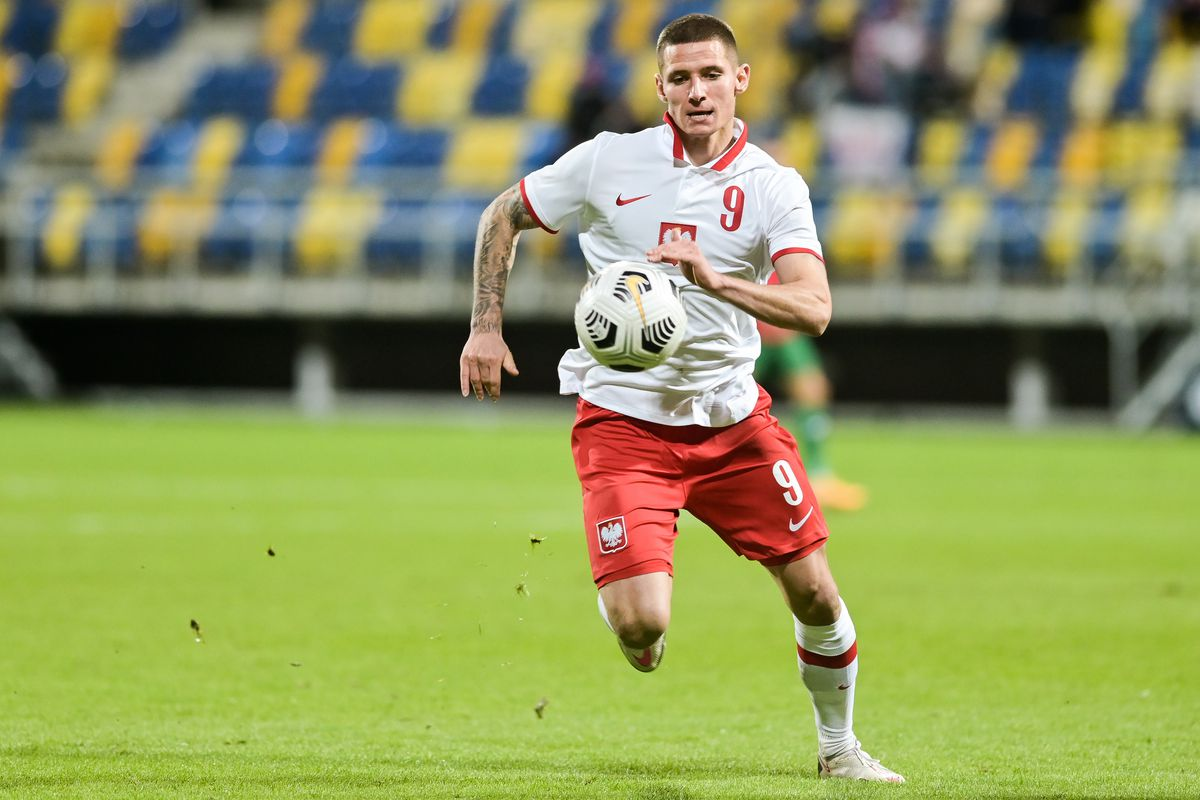 Patryk Klimala of Poland seen in action during football U-21...