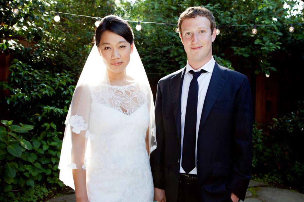 Mark Zuckerberg and Priscilla Chan, via Grazia