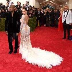 Kanye West and Kim Kardashian in Roberto Cavalli