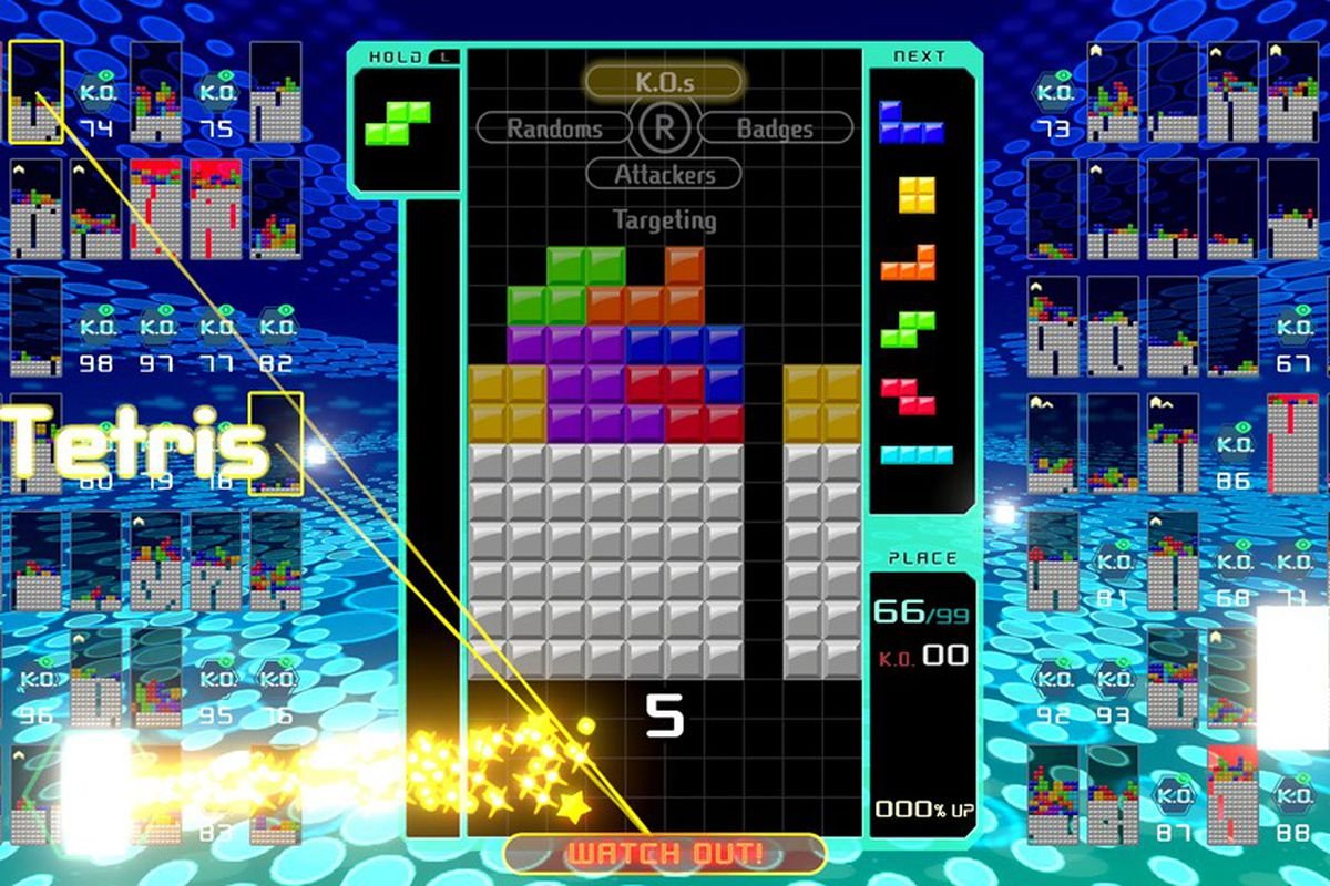 Tetris 99 is the opposite of Tetris Effect, and it's amazing