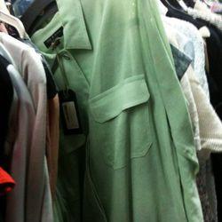 Rag & Bone mint green shirt jacket, $150 (was $445)
