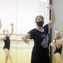 Megan Ware teaches ballet at Bountiful School of Ballet, which she co-owns, in Woods Cross on Thursday, Sept. 17, 2020.