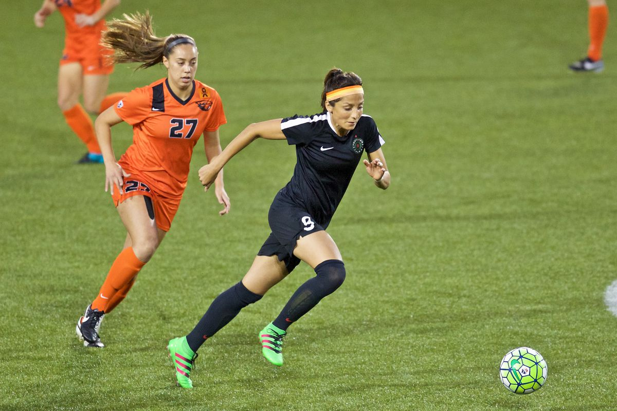 Nadia Nadim tallied her first goal for the Thorns in a 1-1 draw with Seattle Reign FC Saturday night.