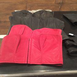 Leather corset, $150