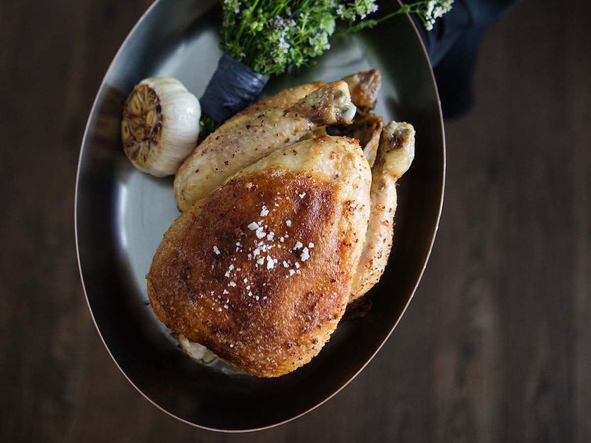 Whole roast chicken from Kinship