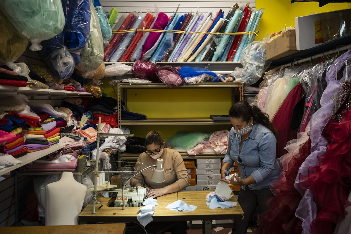 Novias Davila in Little Village made over 17,000 masks for first responders, health clinics and to anyone who asked — for free. Now its business is at risk of closing.