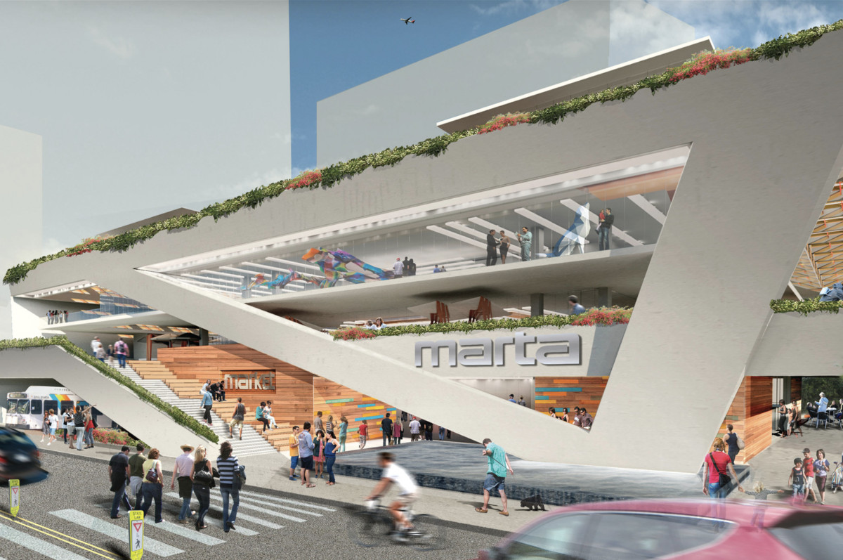 A very early rendering of the vision for the TOD.
