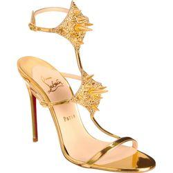 Christian Louboutin's Lady Max studded T-strap sandal